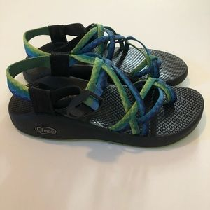 Chacos Sandals ZX/2 Blue Green Vibram Soles 8